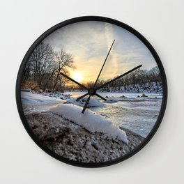 Down the Frozen River 2 Wall Clock