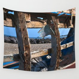 OLD WRECK of GIARDINI NAXOS at SICILY - SICILIA BEDDA Wall Tapestry