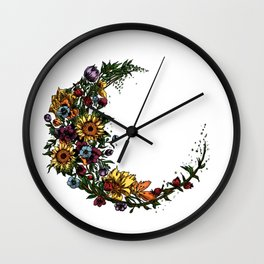 Flower Moon Wall Clock