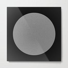 Hypnotic Circles optical illusion Metal Print