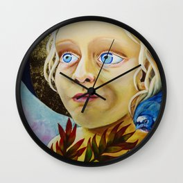 Lucy, the Angel of Light Wall Clock