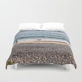 Waves and sand Duvet Cover