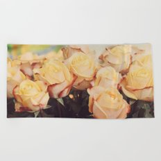 Light yellow roses Beach Towel