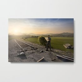 Under-Qualified Metal Print