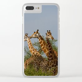Handsome Threesome Clear iPhone Case