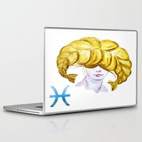 pisces Laptop & iPad Skins featuring Pisces by Aloke Design