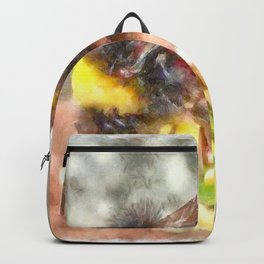 Busy Busy Busy Watercolor Backpack