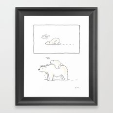 Hey Dad Framed Art Print