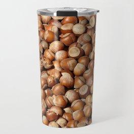Hazelnuts pattern Travel Mug