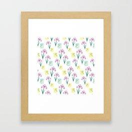 Scent of Irises Framed Art Print