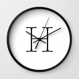 Letter H Typewriting Wall Clock