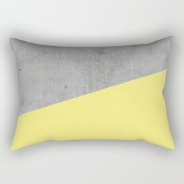 Concrete and Yellow Color Rectangular Pillow