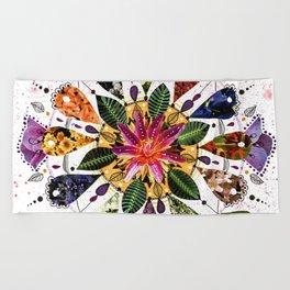 Flower Mandala Beach Towel