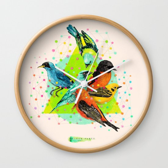 Colour Party III Wall Clock