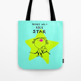 MOZART WAS A ROCK STAR (BLUE) Tote Bag