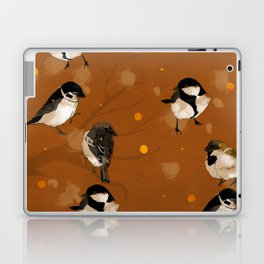 winter fall birds snow flakes gold brown orange earth Laptop & iPad Skin