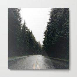 Middle of the road Canada Metal Print
