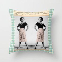 Vintage Blue Dot Throw Pillow