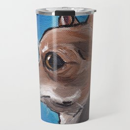 Cute Chihuahua Art, Chihuahua Pet Painting Travel Mug