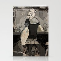 return Stationery Cards featuring Bluto's Return by Dave Bardin