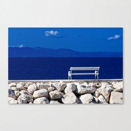 Mediterranean tranquil sea view Canvas Print