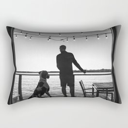 Mans Best Friend Rectangular Pillow