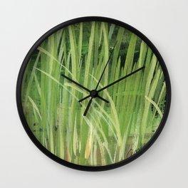 seagrass sea shore watercolor Wall Clock