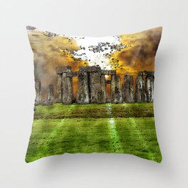 Henge at Sunsleep - Stonehenge Throw Pillow