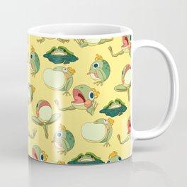 FROOOOOOOOOOOOWG PATTERN yellow Coffee Mug