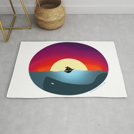 Sailboat in Sunset Rug