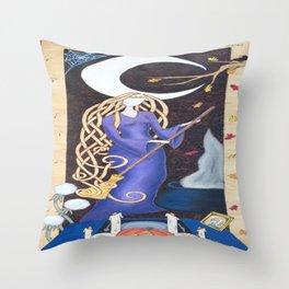 Divining Crone Throw Pillow