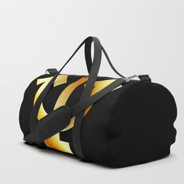 Zodiac and astrology symbol of the planet Neptune in gold colors- astronomical icon Duffle Bag