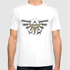 Triforce MEDIUM White Mens Fitted Tee