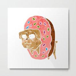 pug and donut. Metal Print