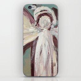 Impressionistic Angel #2 Maroon & Ivory iPhone Skin