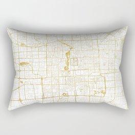 Beijing Map Gold Rectangular Pillow