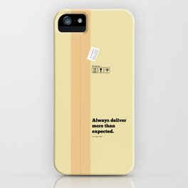 Lab No. 4 - Always Deliver More Than Expected Motivational Typography Quotes Poster iPhone Case