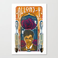 Doctor Who, David Tennant Allons-Y 10th Doctor Canvas Print