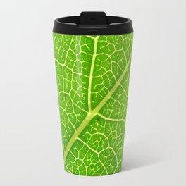 Green Leaf Veins 04 Travel Mug