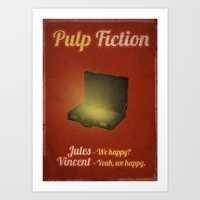 pulp fiction Art Prints featuring Pulp Fiction by rkbr