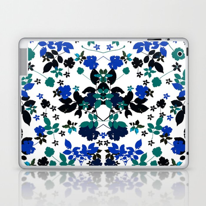 cobalt leaves Laptop & iPad Skin