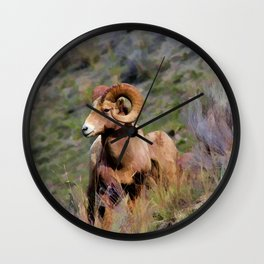 Rocky Mountain Bighorn Sheep Wall Clock