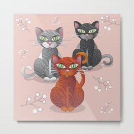 Three nice tiger cats Metal Print