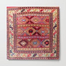 Shahsavan Azerbaijan Northwest Persian Bag Metal Print