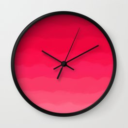 Perfectly Pink Ombre Wall Clock