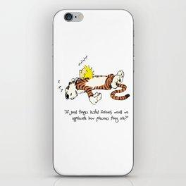 Calvin And Hobbes Sleep iPhone Skin