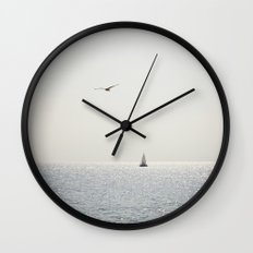 Fly over the sea Wall Clock