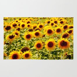 Sunflowers - Loire Valley, France Rug