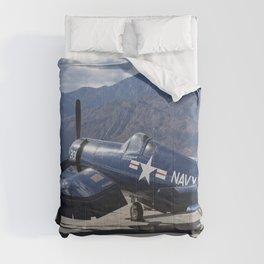 Vintage Historical World War 2 Navy Airplane Comforters