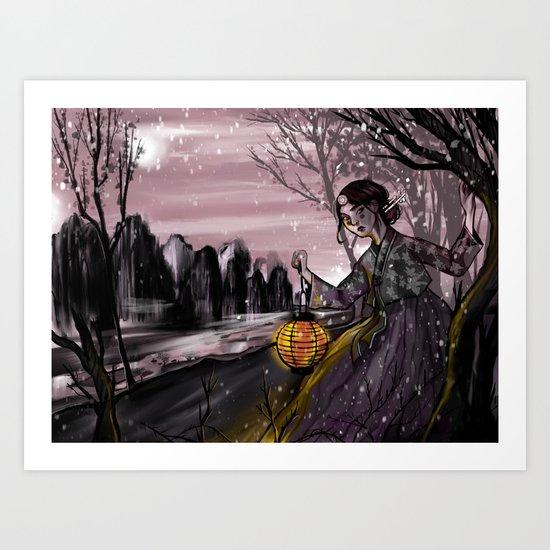 Runaway bride under the moon by nausinesaa